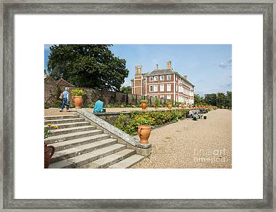 Ham House - Gardens Framed Print by Donald Davis