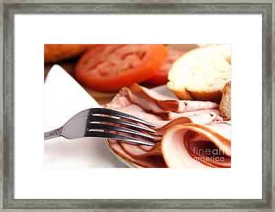 Ham Lunch Spread Framed Print by Blink Images