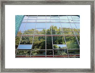 Hamburg Building Reflection Framed Print by Eva Kaufman