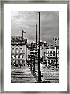 Framed Print featuring the photograph Hamburg Walk by Edward Myers