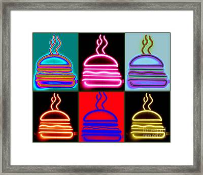 Framed Print featuring the photograph Hamburgers  by France Laliberte