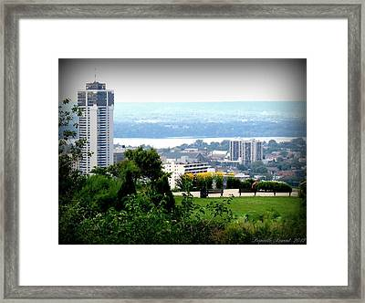 Framed Print featuring the photograph Hamilton Downtown View From  by Danielle  Parent