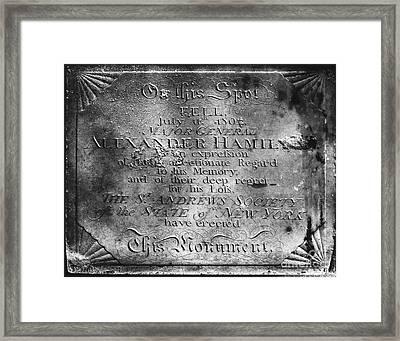 Hamilton: Pamphlet, 1797 Framed Print