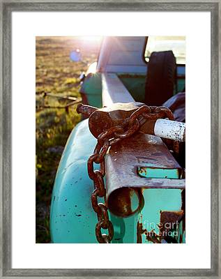 Hammer Chain And Truck Framed Print by Wesley Hahn