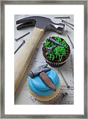 Hammer Cupcake Framed Print by Garry Gay