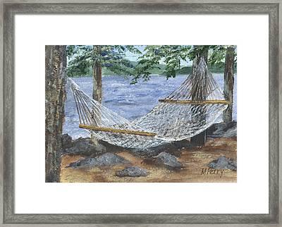 Hammock At Bear Island Framed Print