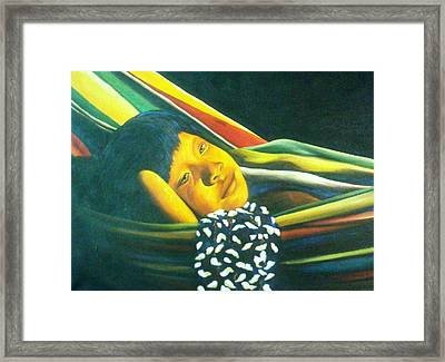 Hammock Child Framed Print by Unique Consignment