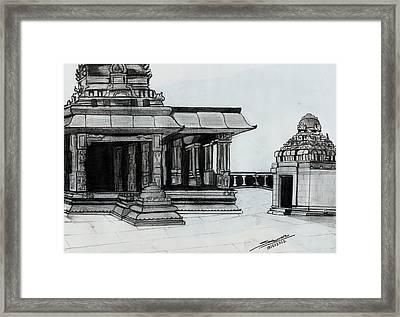 Hampi Stone Structure 2 Framed Print by Shashi Kumar