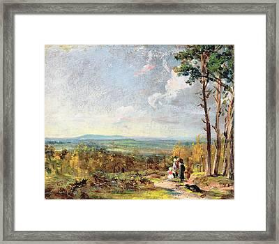 Hampstead Heath Looking Towards Harrow Framed Print by John Constable