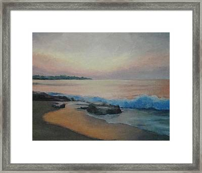 Hampton Beach Predawn Framed Print by Mark Haley