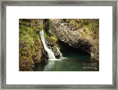 Hana Waterfall Framed Print by Scott Pellegrin