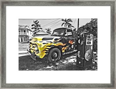 Hanapepe Truck - Yellow Highlights Framed Print