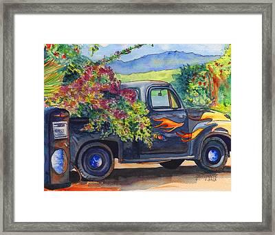 Hanapepe Truck Framed Print by Marionette Taboniar