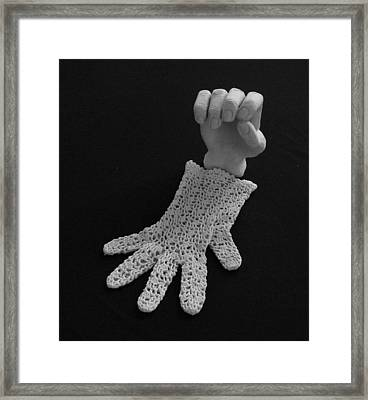 Hand And Glove Framed Print