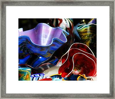 Hand Blown Glass 5 Framed Print by Scott Hovind