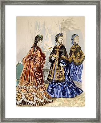 Hand-colored Engraving Depicting Two Framed Print by Everett