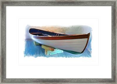 Hand Crafted Boat Painting Framed Print by Earl Jackson
