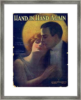 Hand In Hand Again Framed Print by Mel Thompson