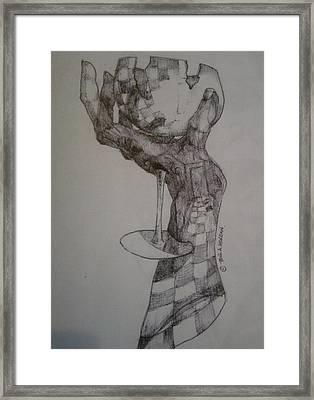 Hand Of An Artist Framed Print by Paul Morgan