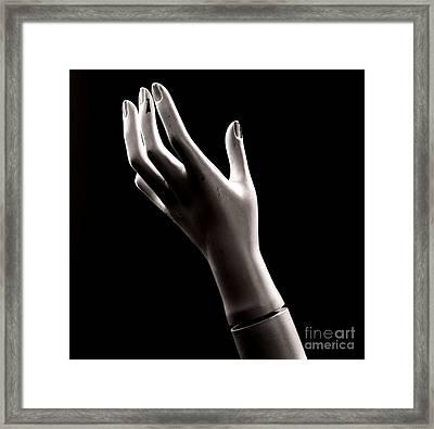 Hand Of Mannequin Framed Print by Bernard Jaubert