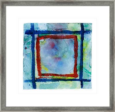 Hand Painted Square Frame   Framed Print