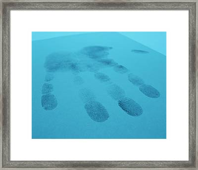 Hand Print Framed Print by Lawrence Lawry