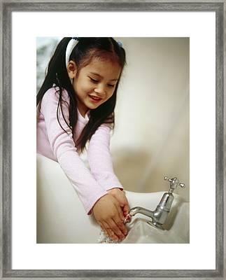 Hand Washing Framed Print by Ian Boddy
