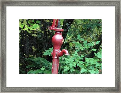 Hand Water Pump Framed Print