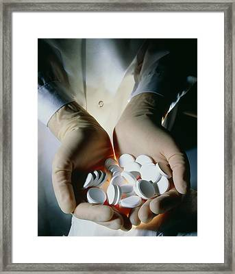Handful Of Manufactured Effervescent Tabl Framed Print