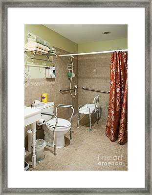 Handicapped-accessible Bathroom Framed Print by Andersen Ross