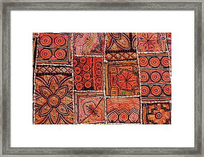 Handicraft Fabric Art Framed Print by Milind Torney