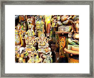 Handmade Vases And Sculptures Framed Print by Sumit Mehndiratta