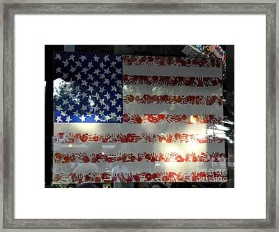 Hands Across America Framed Print by John Black
