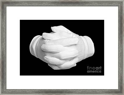Hands Clenched Framed Print by Richard Thomas