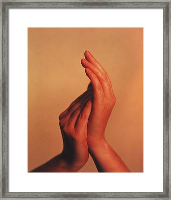 Hands Framed Print by Cristina Pedrazzini