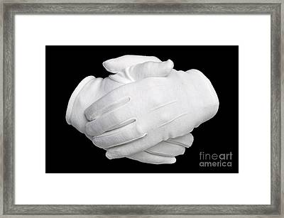 Hands Held Framed Print by Richard Thomas