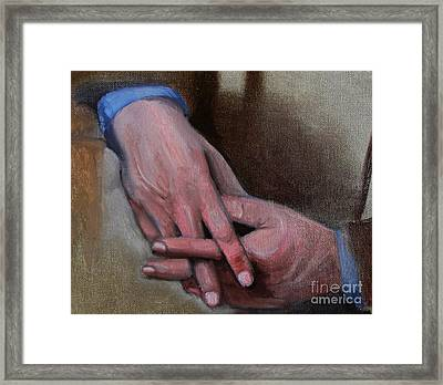 Hands In Oils Framed Print by Kostas Koutsoukanidis