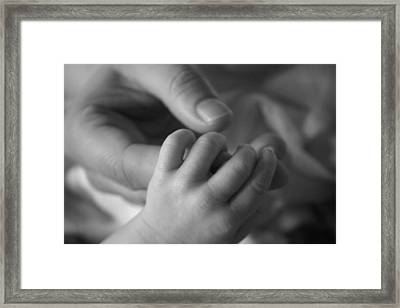 Framed Print featuring the photograph Hands by Kelly Hazel