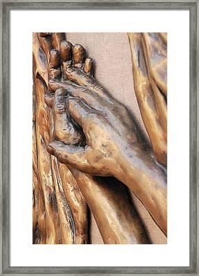 Hands Of Faith Framed Print by David Schmerer