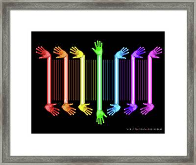 Hands Of The Artist Framed Print by Dean Gleisberg