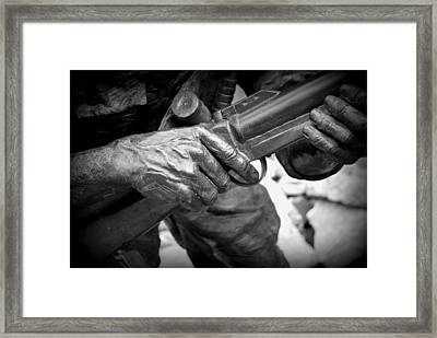 Hands Of War Framed Print