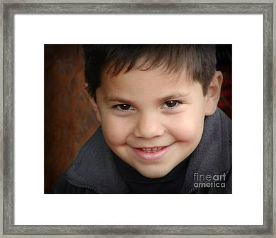 Handsome Boy Framed Print