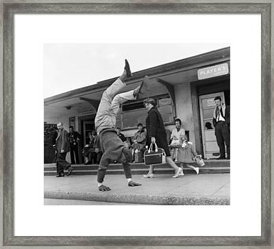 Handstand Framed Print by John Drysdale