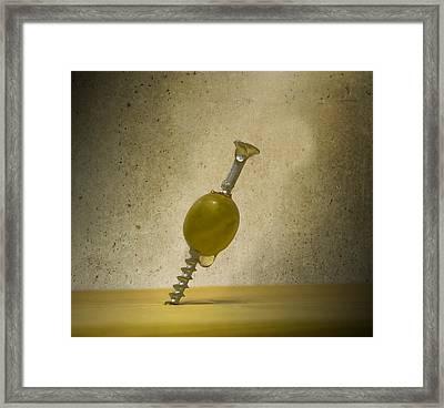 Handyman Martini Framed Print