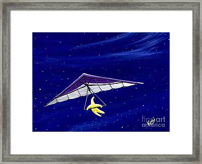 Hang Gliding Star Framed Print