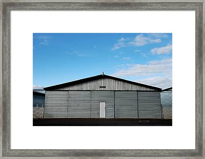Framed Print featuring the photograph Hangar 2 The Building by Kathleen Grace