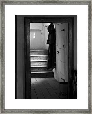 Hanging Cloak Framed Print by Ed Bertorello