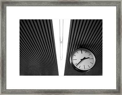 Hanging Clock Framed Print by Christoph Hetzmannseder