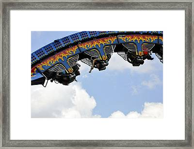 Hanging Five Framed Print