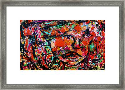 Hanging On Framed Print by Natalie Holland